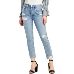 Sam Edelman The Stiletto Cotton Ripped Straight-Leg Jeans found on MODAPINS from Macy's for USD $118.00