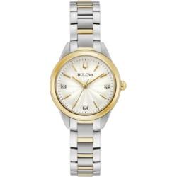 Bulova Women's Sutton Diamond-Accent Two-Tone Stainless Steel Bracelet Watch 28mm