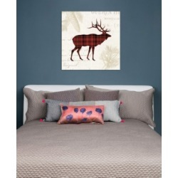 "iCanvas ""Plaid Lodge Iii"" by Wild Apple Portfolio Gallery-Wrapped Canvas Print (26 x 26 x 0.75)"