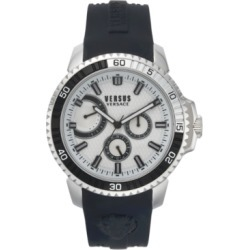 Versus by Versace Men's Aberdeen Extension Black Silicone Strap Watch 45mm found on Bargain Bro Philippines from Macy's for $205.00