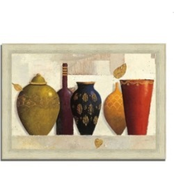 Tangletown Fine Art Jeweled Vessels by James Wiens Framed Painting Print, 36
