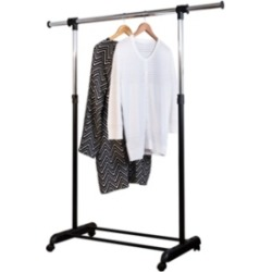 Honey Can Do Adjustable Garment Rack with Extendable Bar