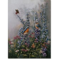 Wanda Mumm 'The Blue's' Canvas Art - 47