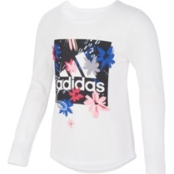 adidas Toddler Girls Long Sleeve Scoop Neck Tee found on MODAPINS from Macy's for USD $22.00