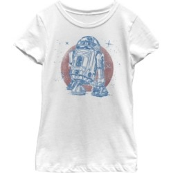 Fifth Sun Star Wars Big Girl's R2-D2 Vintage-Like Neon Retro Sparkly Badge Short Sleeve T-Shirt found on Bargain Bro India from Macys CA for $23.08