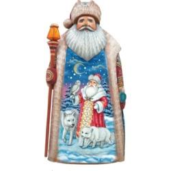 G.DeBrekht Woodcarved Serenity Angel Santa Figurine