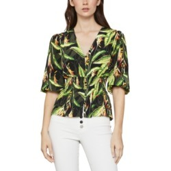 Bcbgmaxazria Floral-Print Smocked-Waist Top found on Bargain Bro Philippines from Macy's Australia for $66.42