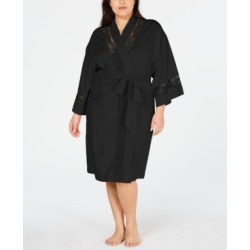 Charter Club Plus-Size Embroidered Lace Knit Robe, Created for Macy's found on Bargain Bro India from Macys CA for $32.48