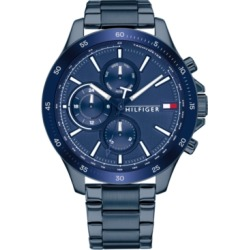Tommy Hilfiger Men's Chronograph Blue Stainless Steel Bracelet Watch 46mm, Created for Macy's found on Bargain Bro Philippines from Macy's for $195.00