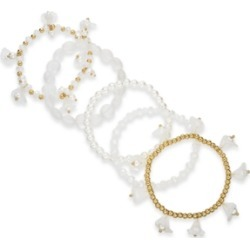 Inc Gold-Tone 6-Pc. Set Shaky Bead & Flower Stretch Bracelets, Created for Macy's found on Bargain Bro Philippines from Macy's for $10.26