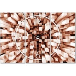 Designart Modern and Contemporary 3 Panels Metal Wall Clock found on Bargain Bro Philippines from Macy's Australia for $186.58