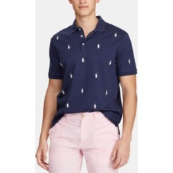 Polo Ralph Lauren Men's Classic-Fit Allover Pony Polo Shirt found on MODAPINS from Macy's for USD $148.00