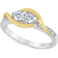 Diamond Two Souls Engagement Ring (1/2 ct. t.w.) in 14k Gold & White Gold found on Bargain Bro India from Macy's for $1421.55