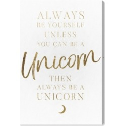 Oliver Gal Always Be A Unicorn Canvas Art, 10