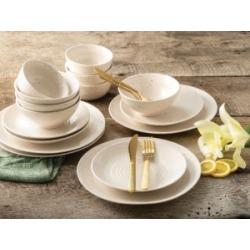 Sango Siterra White 16 Piece Dinnerware Set