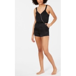 I.n.c. Satin Contrast Trim Romper, Created for Macy's