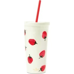 kate spade new york Tumbler with Straw, Strawberries found on Bargain Bro Philippines from Macys CA for $18.80