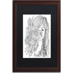 KCDoodleArt Flower Girls 2 Matted Framed Art - 1