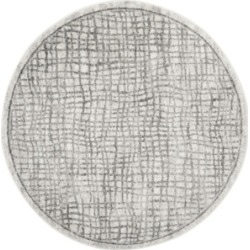 Safavieh Adirondack Silver and Ivory 6' x 6' Round Area Rug found on Bargain Bro Philippines from Macy's for $115.20