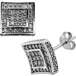 Sutton Sterling Silver Cubic Zirconia Double Squares Stud Earrings found on Bargain Bro India from Macy's Australia for $127.01