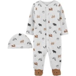 Carter's Baby Boys Animal Print Sleep and Play 2-Pc. Set