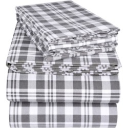 EnvioHome Flannel Sheet Set, Queen Bedding