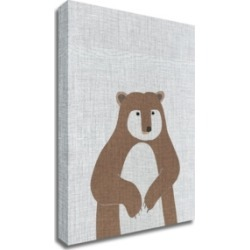 Tangletown Fine Art Brown Bear by Annie Bailey Art Print on Canvas, 24