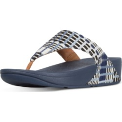FitFlop Lulu Leather Toepost Flip-Flop Sandals Women's Shoes found on Bargain Bro India from Macy's for $70.00