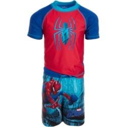 Dreamwave Little Boys 2-Pc. Spiderman Rash Guard & Swim Trunks Set