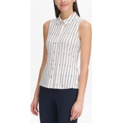 Tommy Hilfiger Anchor-Print Blouse found on MODAPINS from Macy's for USD $28.99