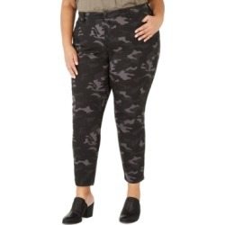 Style & Co Plus Size Cotton Camouflage Jeans Created For Macy's