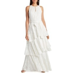 Tahari Asl Tiered Chiffon Gown found on Bargain Bro from Macy's for USD $142.88