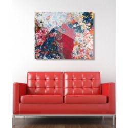 """Creative Gallery First Sight Scarlet Abstract 16"""" x 20"""" Acrylic Wall Art Print"""