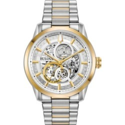 Bulova Men's Automatic Sutton Two-Tone Stainless Steel Bracelet Watch 43mm