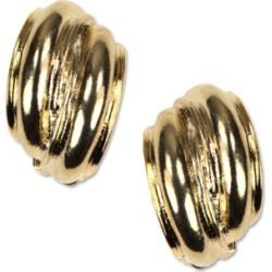 Anne Klein Earrings, Gold-Tone Button E-z Comfort Clip On Earrings found on MODAPINS from Macy's for USD $24.00