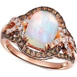Le Vian Neopolitan Opal (1-3/8 ct. t.w.) & Diamond (7/8 ct. t.w.) Ring in 14k Rose Gold found on Bargain Bro India from Macy's for $2820.00