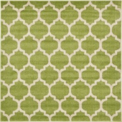 Bridgeport Home Arbor Arb1 Light Green 6' x 6' Square Area Rug found on Bargain Bro India from Macy's for $100.50