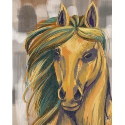 """Creative Gallery Majestic Mare on Beige 36"""" x 24"""" Canvas Wall Art Print"""