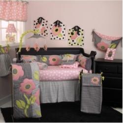 Poppy 4-Piece Crib Bedding Set Crib Bedding