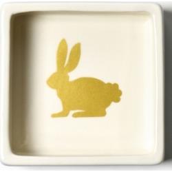 Coton Colors by Laura Johnson Smoke Rabbit Trinket Bowl