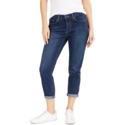 Levi's Cropped Cuffed Straight-Leg Jeans found on MODAPINS from Macy's for USD $59.50