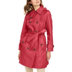London Fog Double-Breasted Hooded Water-Repellent Trench Coat found on MODAPINS from Macy's Australia for USD $192.72