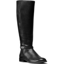 Michael Michael Kors Finley Leather Riding Boots Women's Shoes