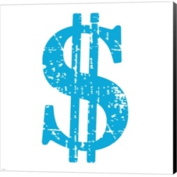 Blue Dollar Sign by Veruca Salt Canvas Art found on Bargain Bro India from Macys CA for $40.07