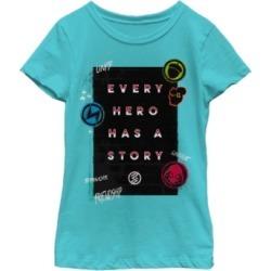 Fifth Sun Marvel Big Girls Every Hero Has a Story Graffiti Wall Short Sleeve T-Shirt