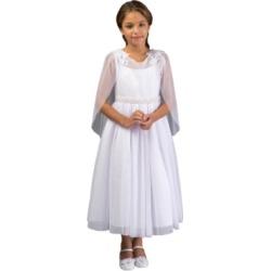 Bonnie Jean Big Girl Cape Communion Dress