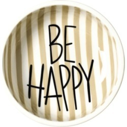 Coton Colors by Laura Johnson Mint Dot Be Happy Dipping Bowl