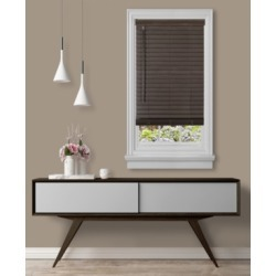 "Cordless Gii Madera Falsa 2"" Faux Wood Plantation Blind, 23x64"