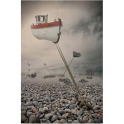 """Baden Bowen Low Tide Boat Canvas Art - 37"""" x 49"""""""