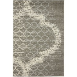 Bridgeport Home Arbor Arb8 Light Gray 4' x 6' Area Rug found on Bargain Bro India from Macy's for $83.00